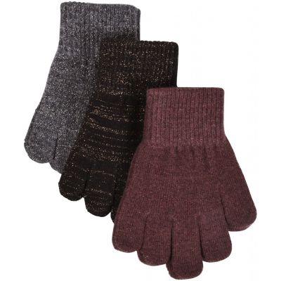 Mikk-Line Magic Gloves 3-Pak Andorra/Antrazite/Black/lurex