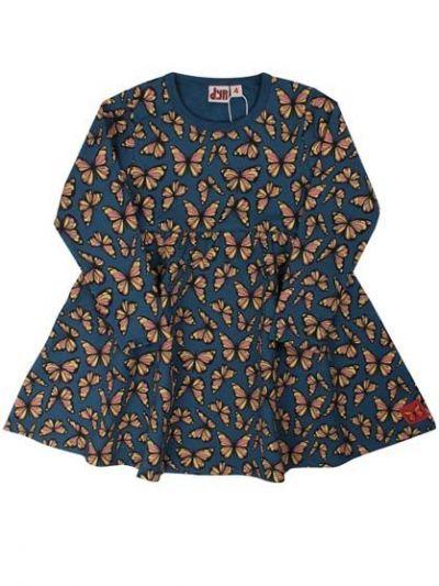Chicklet Dress Dk Blue flutter