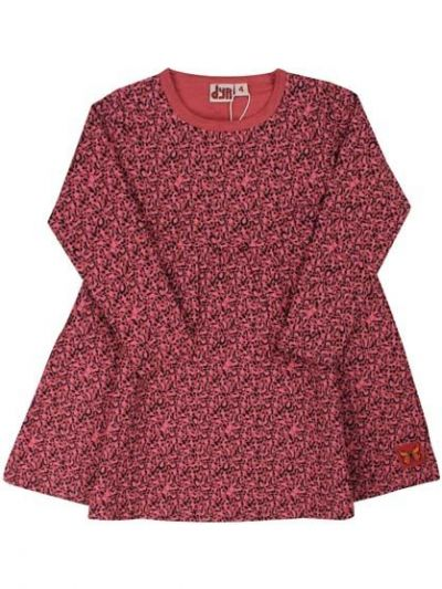 Chicklet Dress Dk Rose Mini Leopard