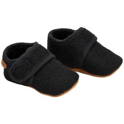 Enfant Baby Wool Slippers Black