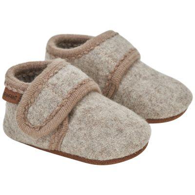Enfant Baby Wool Slippers Sand Melange