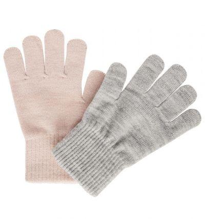 Melton 2-Pack Gloves w.Lurex Silver/Rose