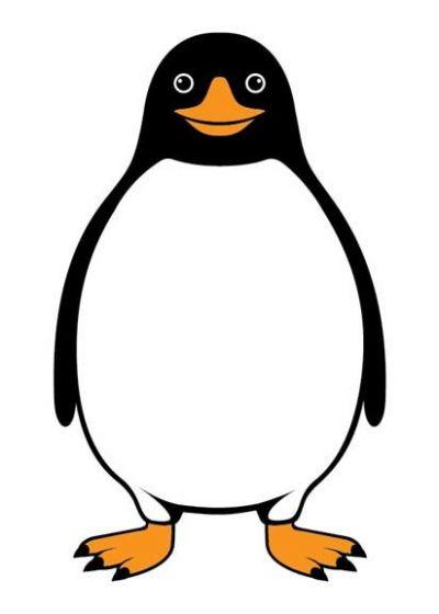 DYR Postcard White PINGVIN