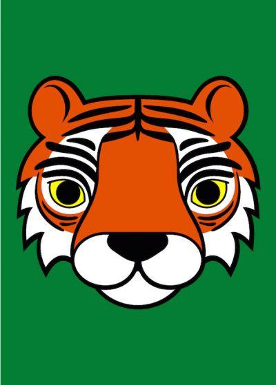 DYR Postcard Green TIGER