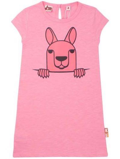 Aligator Dress Snap Pink KANGURU