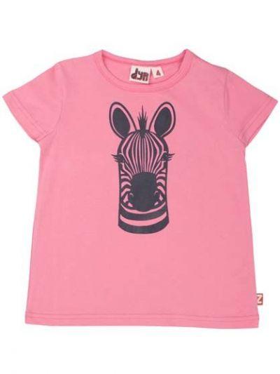 Wildlife T Candy Pink ZEBRA