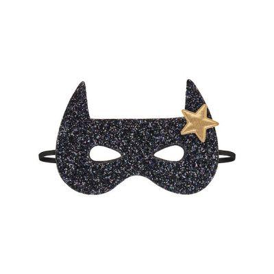 Room2Play Maske Black Glitter BAT Superhelt