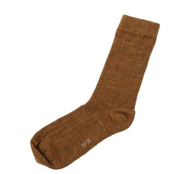 JOHA Wool Socks Thin Rib Kobber
