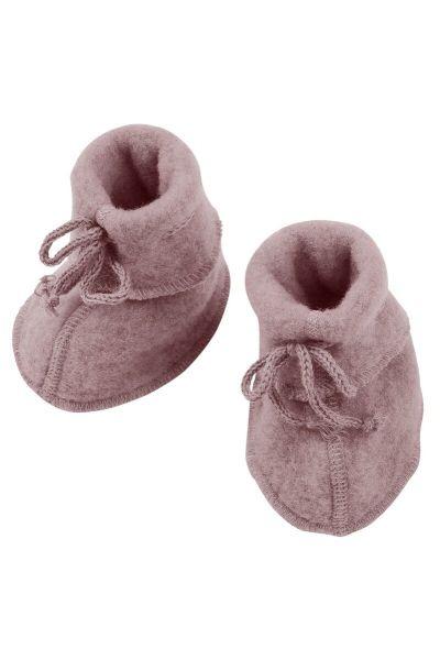 Engel Natur Baby Bootees Rosewood Melange