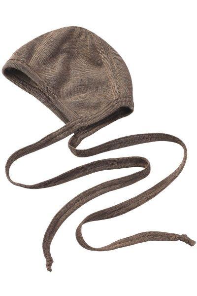 Engel Natur Baby Bonnet GOTS Walnut