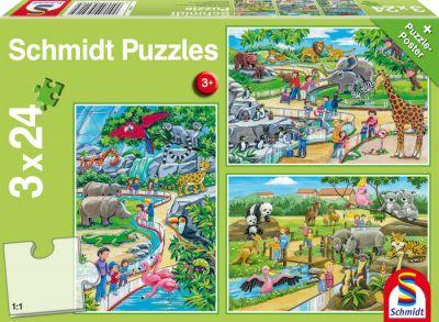 Schmidt Puzzle 3x24 Zoo
