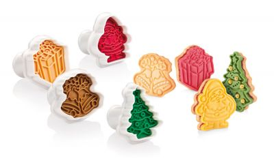 Tescoma Cookie Cutters with Stamp 4 PCS Christmas