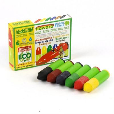 Oekonorm Mini Wax Crayons Gnome 6-Colors Set