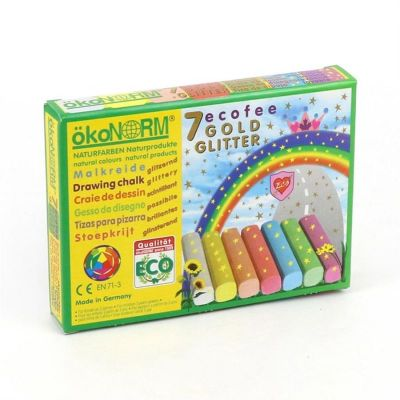 Oekonorm Drawing Chalk Glitter Ecofee - 7 Colors