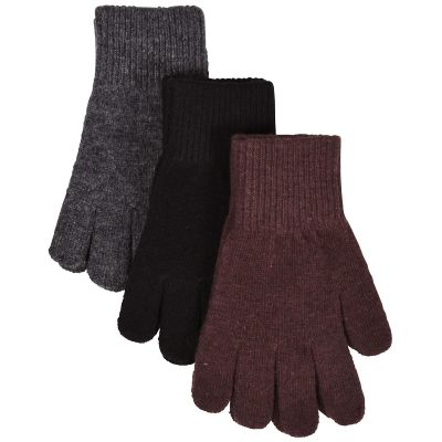 Mikk-Line Magic Gloves 3-Pak Andorra/Antrazite/Black