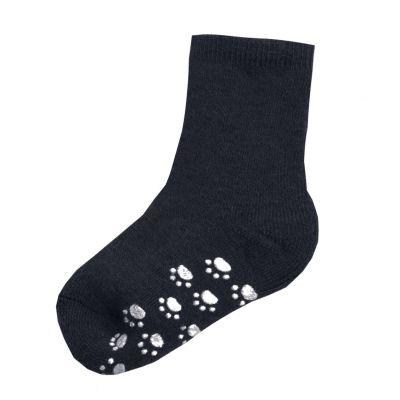 JOHA Wool Socks w.Anti-slip Denim Melange