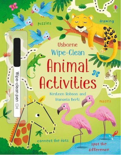 Usborne-Wipe Clean Animals Activities