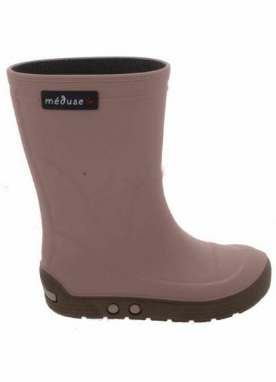 Meduse Rubber Boots Airbus Vieux Rose/Taupe