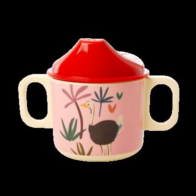 Rice Melamin Baby Kop Pink JUNGLE ANIMALS