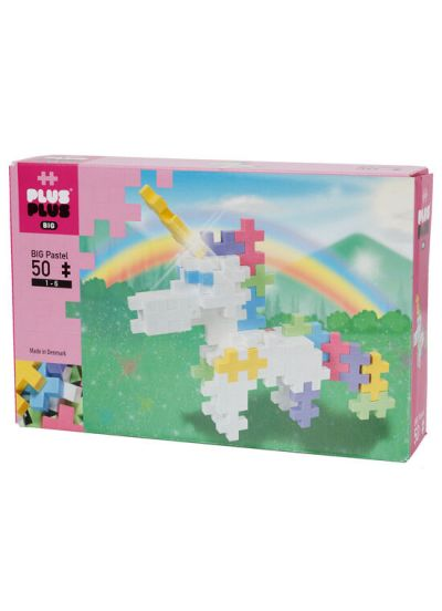 Plus Plus Big 50 PCS Unicorn Pastel