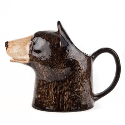 Quail Jug Large Black Bear
