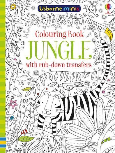 Usborne-Minis Coloring Book Jungle