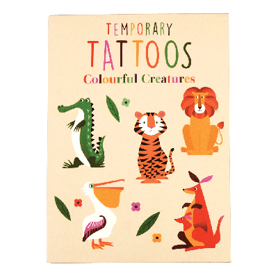 RL Temporary Tattoos Colorful Creatures