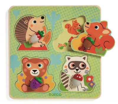 Djeco Puzzle Croc Nut Animals