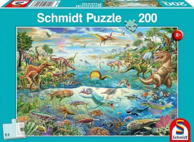 Schmidt Puzzle 200 Brk Discover the dinosaurs