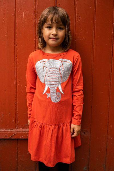 Zanzi Dress LS Fall Coral ELEFANT