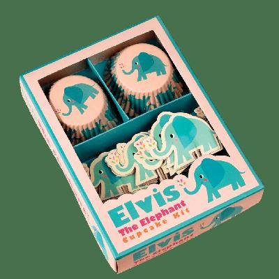 RL Cupcake Kit Elvis the elephant