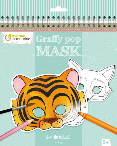 Avenue M Graffy Pop Mask Animals