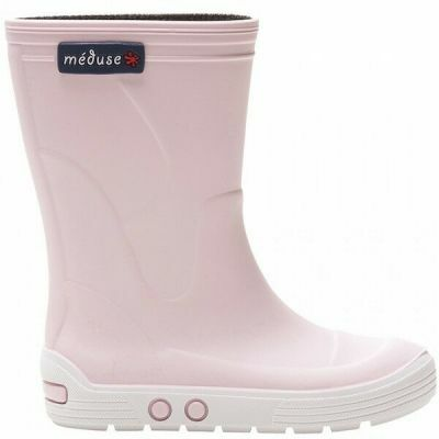 Meduse Rubber Boots Airport Rose Pastel/Blanc
