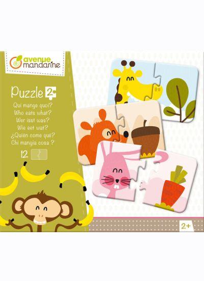 Avenue M Puzzle 2 Pcs Who eats What