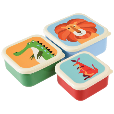 RL Snack Box-Set of 3 Colorful Creatures