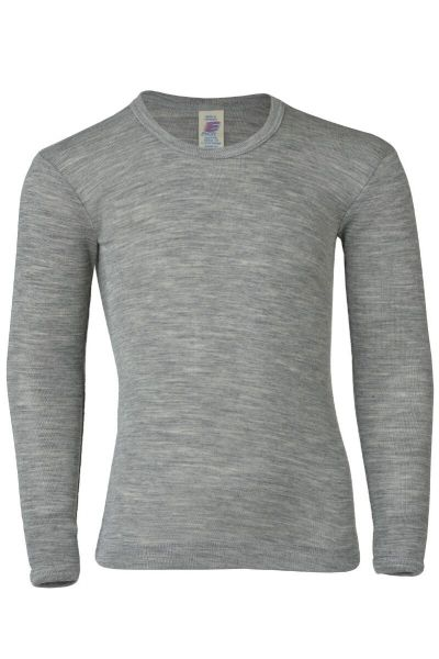 Engel Natur Kids Shirt LS Lt Grey Melange