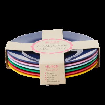 Rice Melamin Sidetallerken 6 Stk Favourite Colors