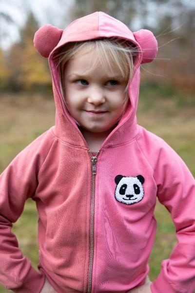 Panda Zip-Up Dk Rose / Winter Pink PANDA