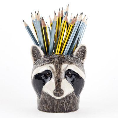 Quail Pencil Pot Raccoon
