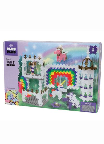 Plus Plus Rainbow Castle 760 PCS Pastel