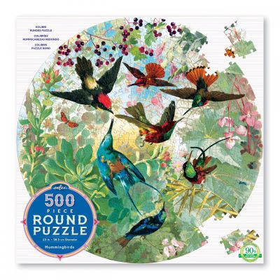 Room2play Rundt Puslespil Kolibrier 500 Brk