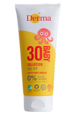 Derma Babysollotion SPF30 200ml Allergivenlig