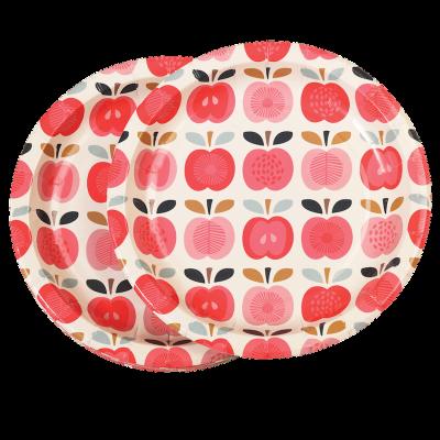 RL Paper Plates Round Vintage apple