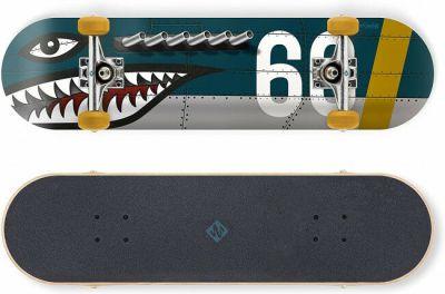 Streetsurfing Skateboard Shark Fire