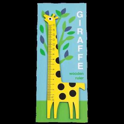 RL Wooden Ruler Yellow Giraffe